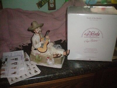 Vintage  Melody In Motion  South Of The Border Animated Musical Figurine In Box