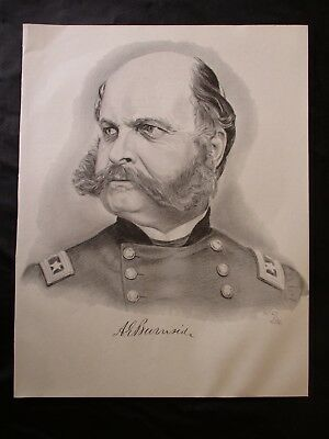 Civil War Union General Ambrose Burnside - I COMBINE SHIPPING - SEE  MY PRINTS