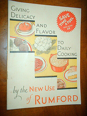 64 USES FOR RUMFORD 1932  SC Cookbook ^^
