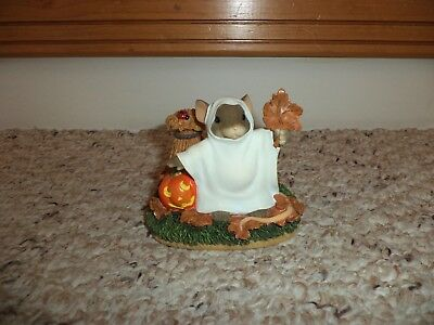 """Fitz And Floyd Charming Tails """"you're Booo-Tiful"""" Halloween Mouse Ghost Figure"""