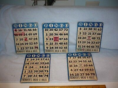 VINTAGE FREIHOFER'S BREAD ADVERTISING   bingo cards lot of 5