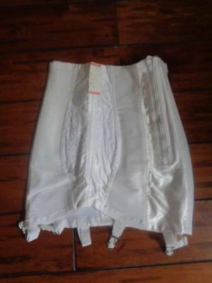 Vintage Always 21 Smoothie Girdle High Waist Size 27 White Nwt Garters
