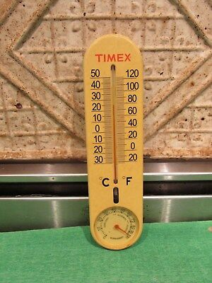Vintage 1960s Timex Watch Advertisement Plastic Thermometer Humidity Nice One