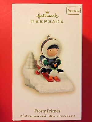 2009 ~ Hallmark Ornament ~ FROSTY FRIENDS ~ #30 ~ Downhill SkIing ~ PENGUIN