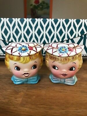 Vintage Geo Lefton Miss Dainty Salt & Pepper Shakers