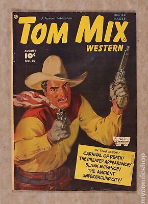 Tom Mix Western (Fawcett) #20 1949 VG 4.0