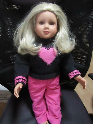 My Twinn Doll blonde brown eyes Outfit Pant & sweater soft body hard limbs