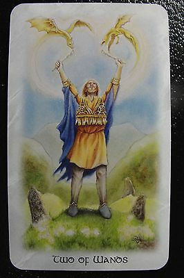 Two of Wands The Celtic Dragon Tarot Single Replacement Card Excellent