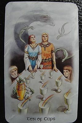 Ten of Cups The Celtic Dragon Tarot Single Replacement Card Excellent Condition