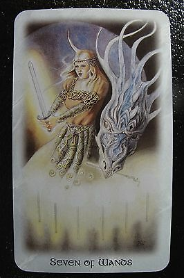 Seven of Wands The Celtic Dragon Tarot Single Replacement Card Excellent
