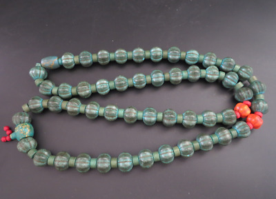 "22.44""Old Chinese  jade, collectibles, Tibetan, turquoise, necklaces,417g"