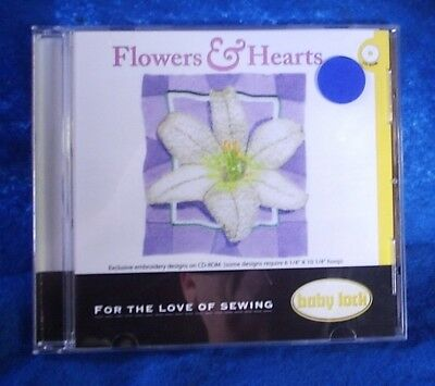 Flowers Hearts Embroidery Designs Cd For Baby Lock Brother Bernina