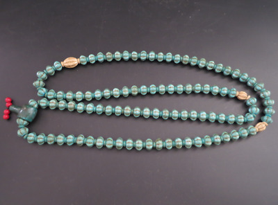 "21.65""Old Chinese  jade, collectibles, Tibetan, turquoise, necklaces,149g"