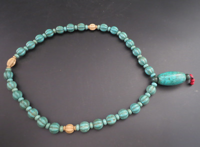 Old Chinese  jade, collectibles, Tibetan, turquoise, necklaces Y4239