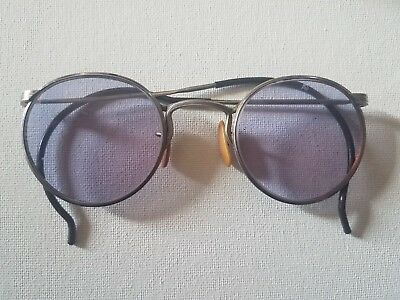 Vintage steampunk Purple Aviator Goggles With Case