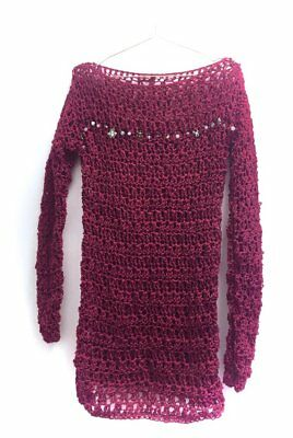 Creepin' Kate Collection - Burgundy Knit - Handmade Jumper - Alternative - Gift