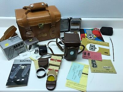 Vintage Used Rolleiflex 2.8D Twin Lens Camera bundle with lots of extras