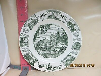 Forest City , Iowa Centennial Plate From 1955 - Kettlesprings Kilns , Number T95