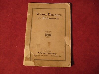 1916-1920 Auto Wiring Diagrams Booklet book Auburn Packard Maxwell Buick Old