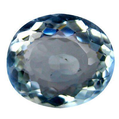 1.24 ct AAA+ Exquisite Oval Shape (8 x 7 mm) Blue Aquamarine Natural Gemstone