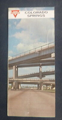 1964 Colorado Springs street  map Conoco  oil  gas Air Force Academy Fort Carson