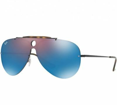 06f0f8c529 Ray-Ban RB3581N 153 7V Blaze Shooter Violet Blue Mirror Black Metal  Sunglasses