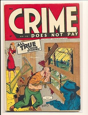 Crime Does Not Pay # 38 VG/Fine Cond.