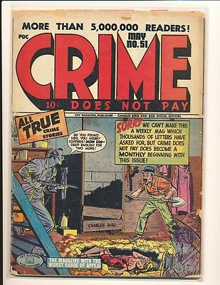 Crime Does Not Pay # 51 Fair Cond.