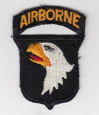 Us Army Patch - 101St Airborne Division With Tab - One Piece