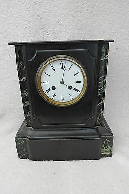 Large Antique French Striking Slate/marble Mantel Clock For Tlc