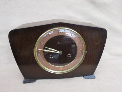Vintage 8 Day Smiths Striking Mantel Clock