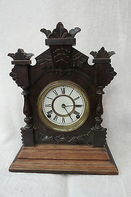 Antique Ansonia Tivoli 8 Day Mantel Clock For Restoration