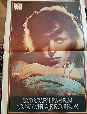 RECORD MIRROR MARCH 1975 with GREAT DAVID BOWIE COLOUR POSTER inside L@@K !!