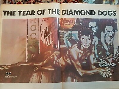 RECORD MIRROR MAY 1974 with GREAT DAVID BOWIE COLOUR POSTER inside L@@K !!