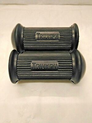 Triumph Pair of Rider Footrest Rubbers Unit 350 500 650 750 1957 to 1978 82-9279