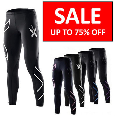 2XU Women Compression Fitness Tights Running Pants Womens Female Gym Yoga Sports