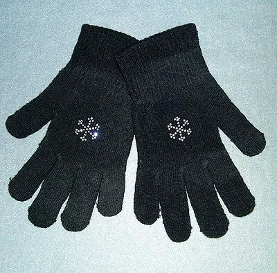 Sparkly Snowflake Ice Skating Dress  Gloves  Adult M /L