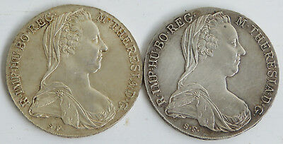 +++ 2 MARIA THERESIA TALER ÖSERREICH 1780 833er SILBER 56 g +++