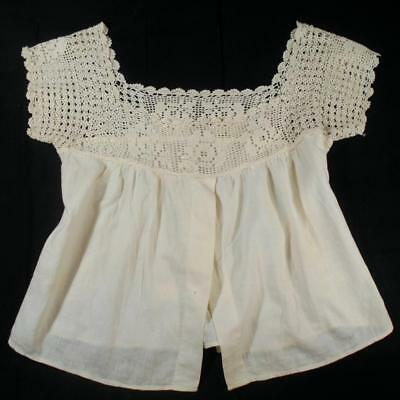 1920's Vintage Small Ladies,girls Cotton Camisole,chemise W/hand Crocheted Yoke