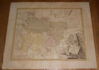 1777 Antique Homann Heris Map Duchy of Cleves Charte vom Herzogthum Cleve