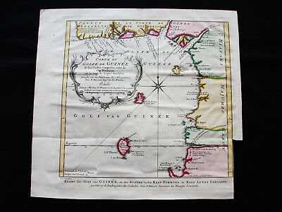 1754 BELLIN - Original map of AFRICA WESTERN, GUINEA, GABON, CAPE LOPEZ, FORMOSA