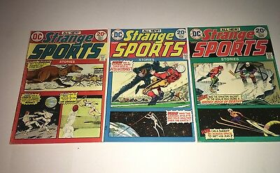 Strange Sports Stories Lot of 3 # 2 3 5 FN 1973 1974 D.C.