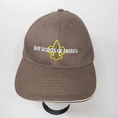 BSA Boy Scouts of America Adult Strapback Hat Camping Ball Cap NEW NWT