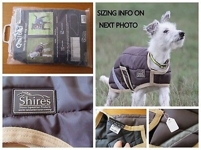 New Shires Breathable Dog Coat Rug Brown & Beige Small With Hi Viz Strips