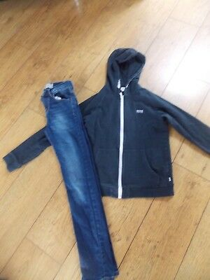 Boys Hugo Boss Tracksuit Top Levi Red Tab Skinny Jeans Age 12 Years