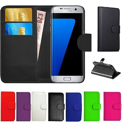 Luxury Genuine Real Leather Flip Case Wallet Cover For Samsung Galaxy Phone