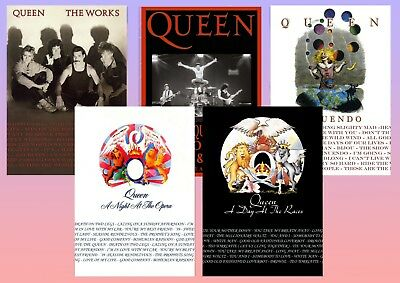 QUEEN: A Day at the Races, The Works, Innuendo, Live  A5 A4 A3 Album posters