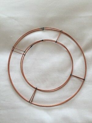 "2 X 8"" Flat Wire Wreath Rings Frames Copper Wire Ring Christmas Holly Wreaths"