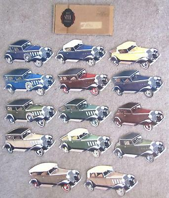 1932 Chevrolet Chevy Style Packet w/14 Paper Color Cars & Original Envelope RARE