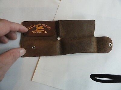 Old UNUSUAL John Deere Folding Leather Case - Don't know What You Put Inside